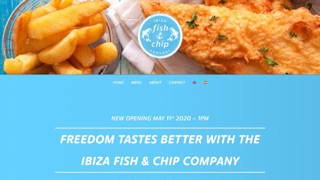 Ibiza Fish and Chip Company Website
